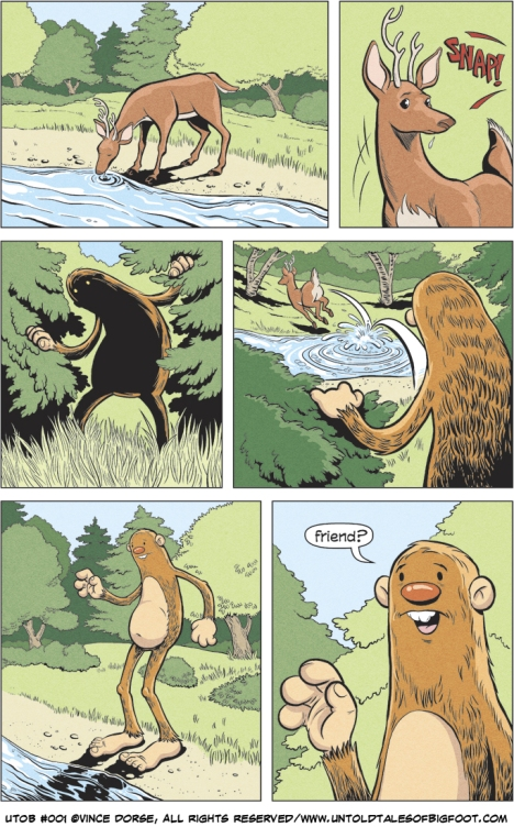 Untold Tales of Bigfoot: Crossing Paths page 001