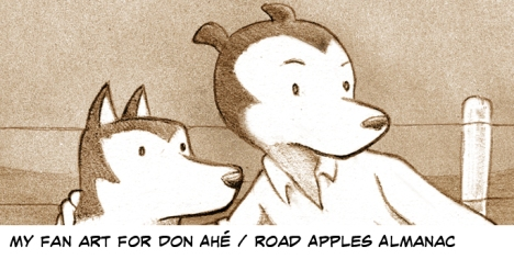 Vince Dorse fan art for Road Apples Almanac