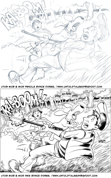 Pencils and Inks for UTOB pages 108 and 109