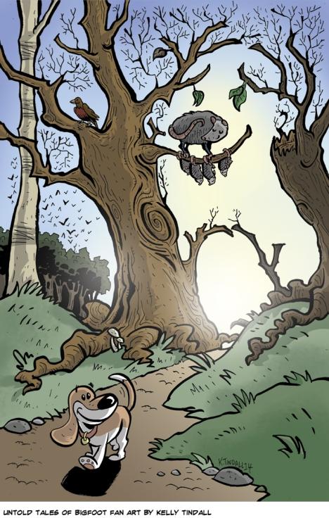 Untold Tales of Bigfoot fan art by Kelly Tindall