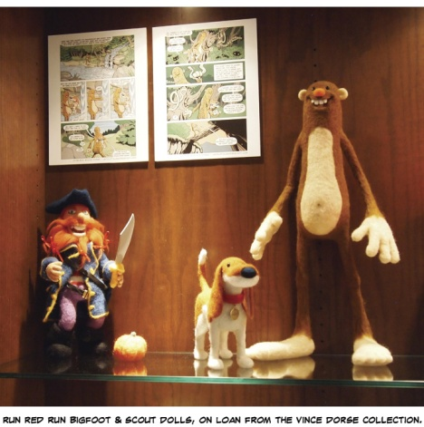run red run felts of Bigfoot and Scout