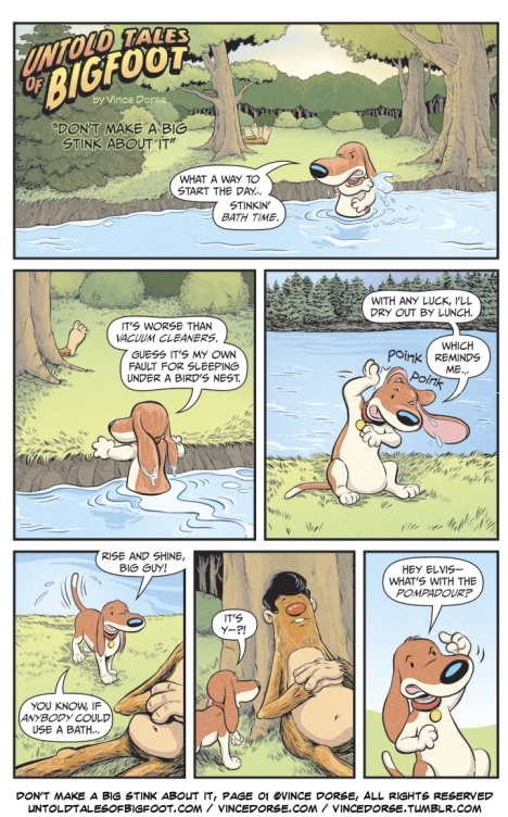 Untold Tales of Bigfoot: Don't Make A Big Stink About It! 2-page comic